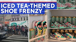 99-cent Arizona Iced Tea-themed sneakers cause frenzy in NYC