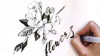 Обзор кисти с резервуаром VISTA-ARTISTA и процесс рисования цветов яблони