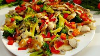 Яркий и вкусный салатик с супер заправкой!