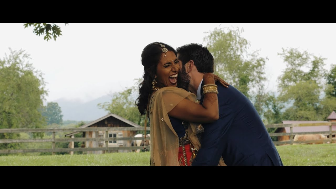 Kalpana and Nate's 'Rustic-Indian' Wedding Trailer at The Farm [Candler, NC]