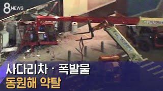 사다리차 · 폭발물 동원해 약탈…한인 상점 99곳 털려 / SBS