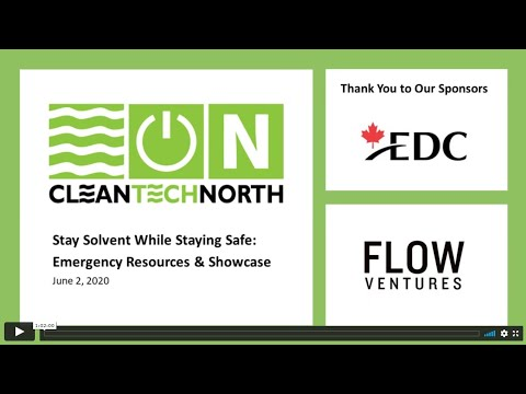 CleanTech North in Covid19: Stay Solvent While Staying Safe - Emergency Resources & Showcase
