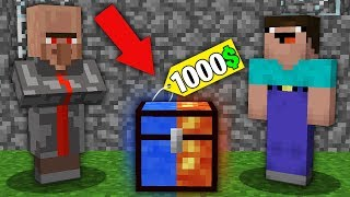 Minecraft NOOB vs PRO:NOOB BOUGHT THIS MULTI LAVA AND WATER CHEST FOR 1000$! Challenge 100% trolling