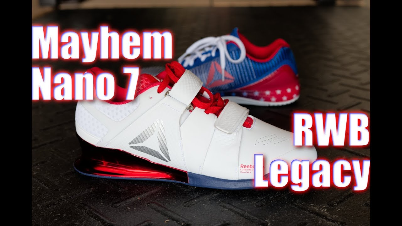 877491587d7b Reebok Nano 7 CF Mayhem Pack   RWB Legacy Lifters - On Feet! - YouTube