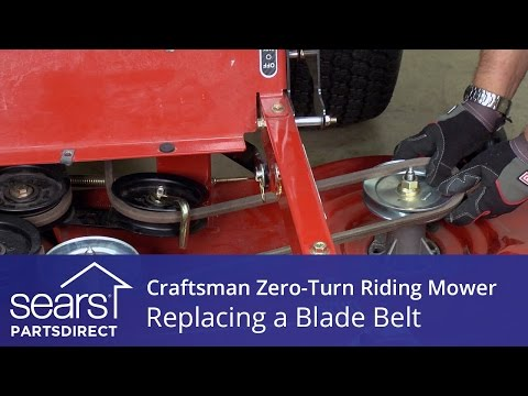 how to replace a craftsman zero turn riding mower blade belt youtube ZTS 6000 Parts