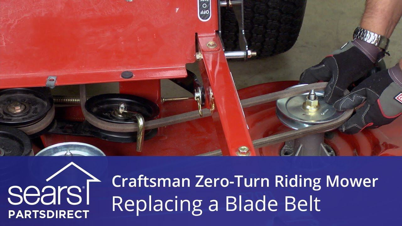 how to replace a craftsman zero turn riding mower blade belt sears partsdirect [ 1280 x 720 Pixel ]