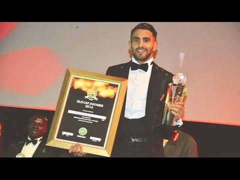 لحظة اعلان رياض محرز أحسن لاعب افريقي 2016 The African Footballer of the Year