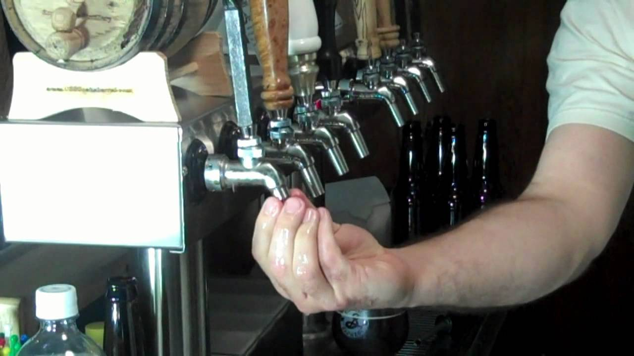 Filling bottles from the Perlick taps on my kegerator - YouTube
