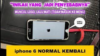 MENGATASI IPHONE STUCK LOGO DAN TIDAK TERDETEKSI DI PC.
