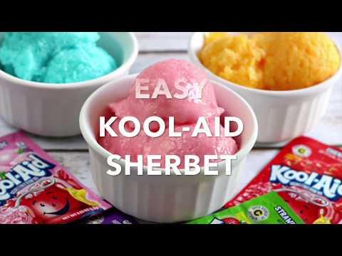Easy Kool Aid Sherbet