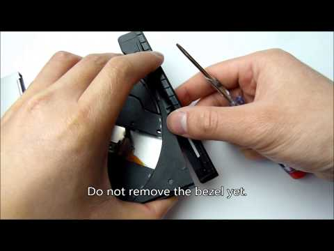 How to safely remove bezel / frontplate from dvd or blu-ray drive