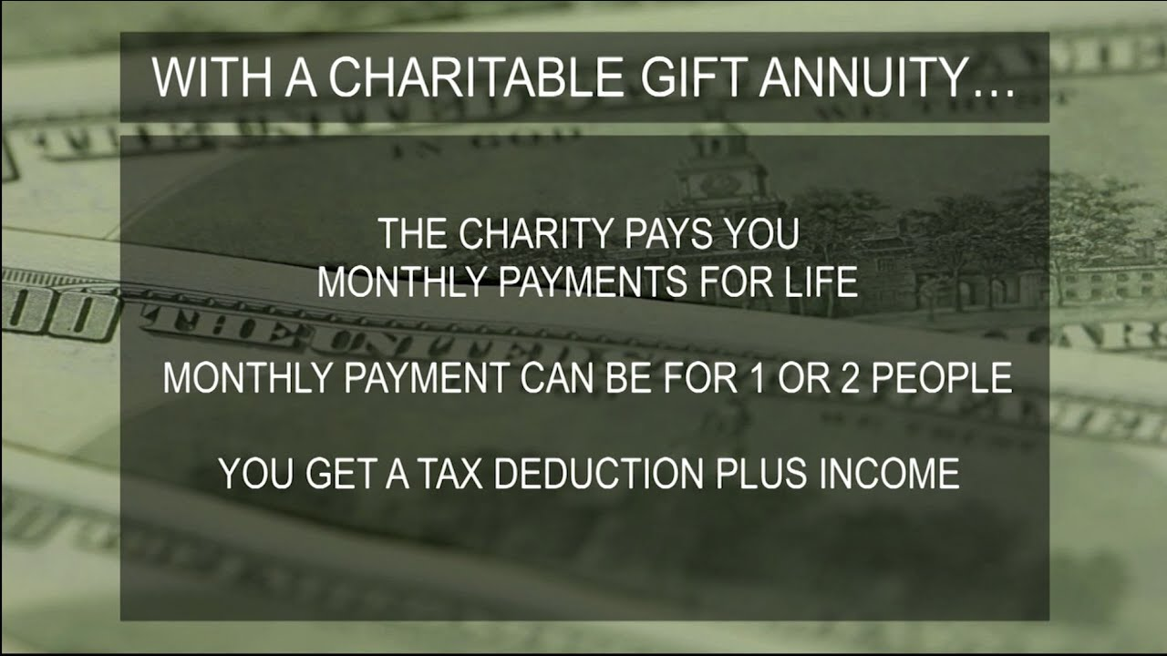 What is a Charitable Gift Annuity? - YouTube