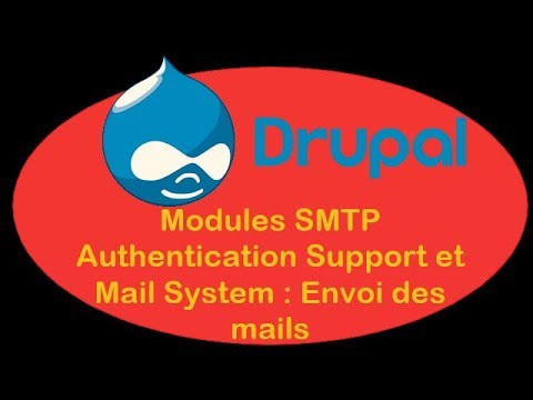 Drupal 8 4 - II-02 - Modules SMTP Authentication Support et Mail System  (Envoi des mails)