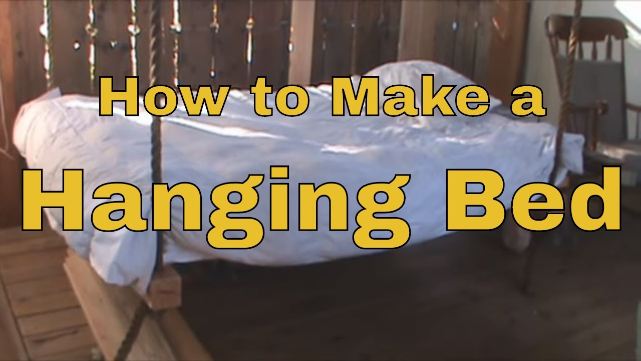 How To Make a Hanging Bed - Wooden Hammock - Porch Swing ...