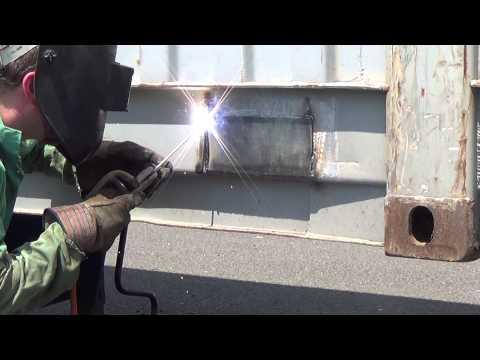 Repairing A Sea Container