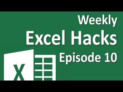 Weekly Excel Hacks - Episode 10 - F5/Comment Block/Concatenate Range