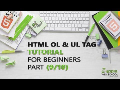 HTML UL & OL TAG | HTML  UL & OL TAG Tutorial for Beginners (Part 9/10) thumbnail
