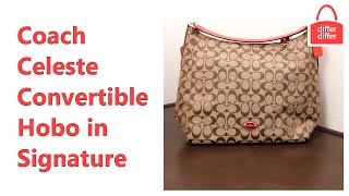 Coach Celeste Convertible Hobo in Signature Canvas 36377