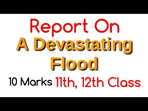 Report writing on flood | Report on flood for Class12 | How to write a report on Flood