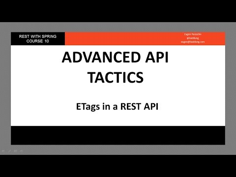 ETags in a REST API (RWS - Module 10 -...