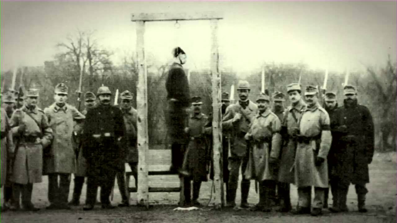 Fotos von Hinrichtungen im 1. Weltkrieg