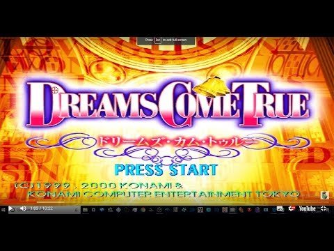 dancing stage -  dreams come true - arcade 3 stages gameplay NON MAME   psx ps1 1080p 60fps