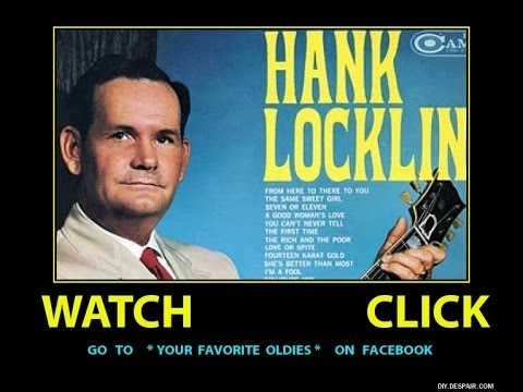 Hank Locklin- Classic Country- Tomorrow's Just Another Day To Cry