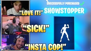 STREAMERS Reacts TO *NEW* SHOWSTOPPER Emote/DANCE IN Fortnite! (Fortnite FUNNY & Daily Best Moments)