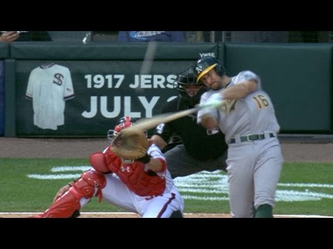 6/25/17: A's score late to secure road sweep of Sox