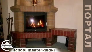 Каминная топка с порталом из кирпича - [school masterkladki](Присылайте свои видео-ролики на канал