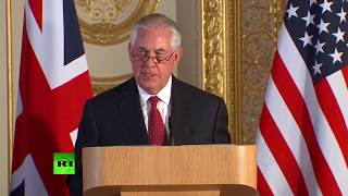 LIVE: Boris Johnson and Rex Tillerson hold joint news conference on North Korea