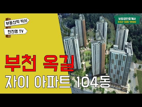 부천 옥길자이104동 매매/전세/월세_부동산 현장[부동산 길잡이 한진명}