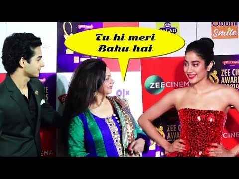 Jhanvi Kapoor And Ishaan Khattar Blessed by Mom | Zee Cine Awards Red Carpet 2019