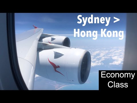 GOOD FOOD on QANTAS | QF127 Sydney to Hong Kong (A380 Economy Class)