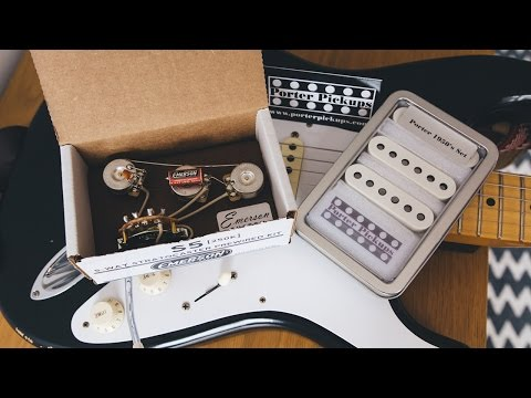 Installing Porter Pickups and Emerson Custom pre-wired kit - Timelapse  footage - YouTubeYouTube