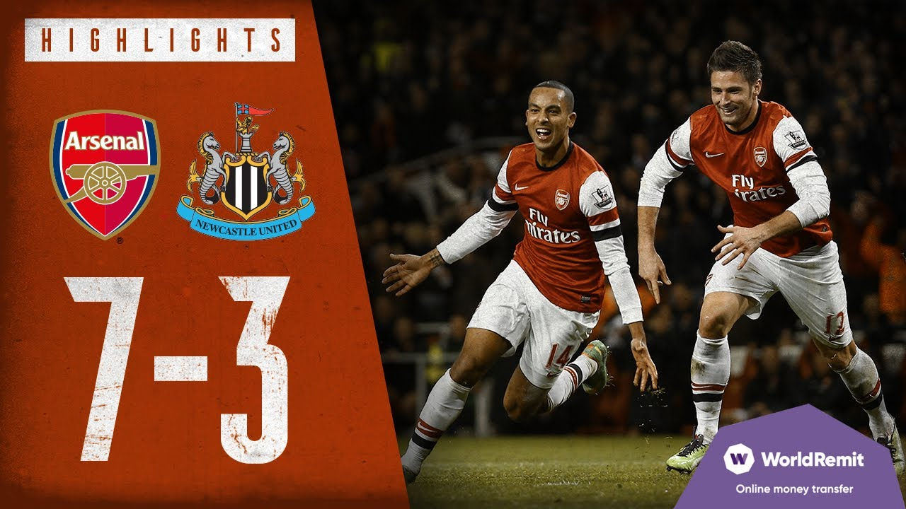 Walcott On Fire Arsenal 7 3 Newcastle United Classic Highlights 2012 Youtube