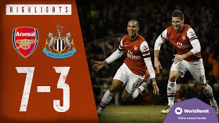 Download 🔥WALCOTT ON FIRE!   Arsenal 7-3 Newcastle United   Classic highlights   2012
