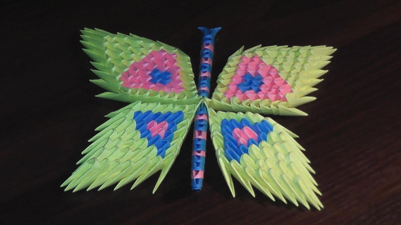 3d Origami Butterfly Assembly Diagram  Tutorial  Instructions