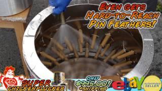 Super Chicken Plucker Machine Full Stainless Steel 8 to 12 Birds Plucking