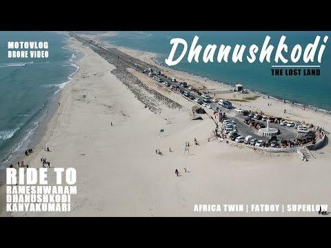 Incredible Ride To Rameshwaram   Dhanushkodi - The Ghost Town In Blue Sea   Drone Shots   VJ Rider
