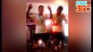 Brian Lozano y Jonathan Orozco 'la marcan' en los festejos del Club Santos