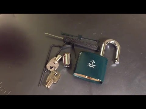 [76] Ace II Tubular Padlock Picked, Shimmed, and Disassembled (Chicago Lock Co./CompX)