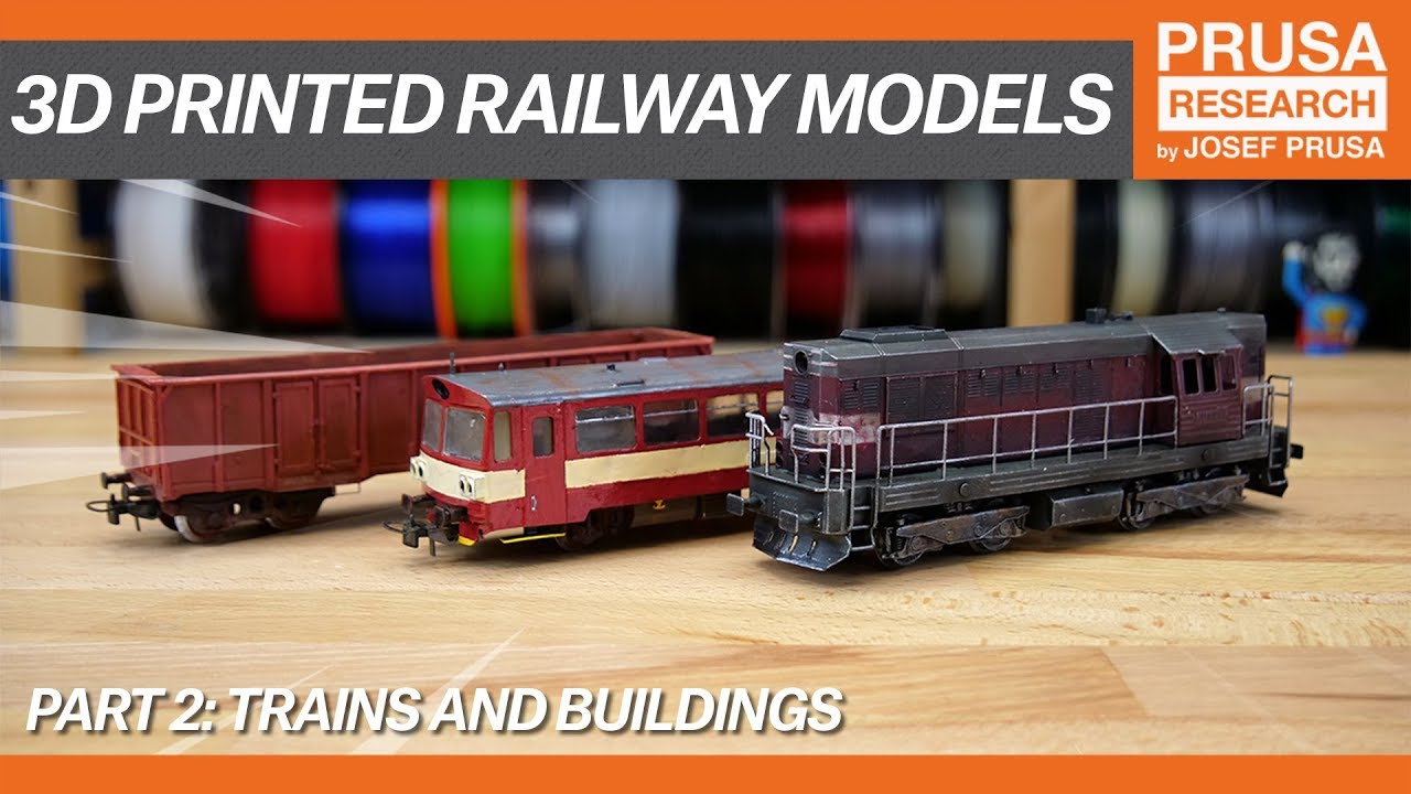 photo relating to Free Printable Model Railway Buildings called 3D revealed railway styles, element II: Trains and structures