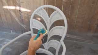 Critter Spray Gun Painting Deck Chairs