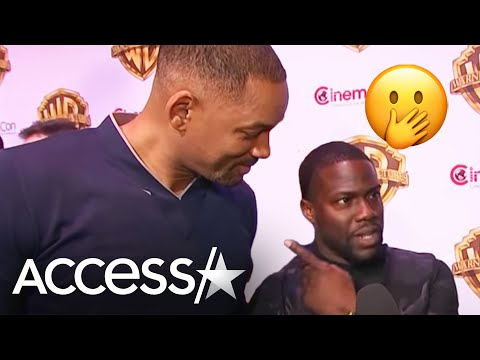 Watch Will Smith Crash Kevin Hart's CinemaCon Interview! | Access Hollywood