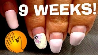 GEL NAILS STAING 9 WEEKS Nail Refill | Nail extensions | Nails design RUSSIAN MANICURE on long nails
