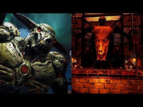 Icon of Sin from All DOOM Games Comparison (DOOM 2, DOOM 2016, DOOM Eternal, DOOM 2 RPG)  