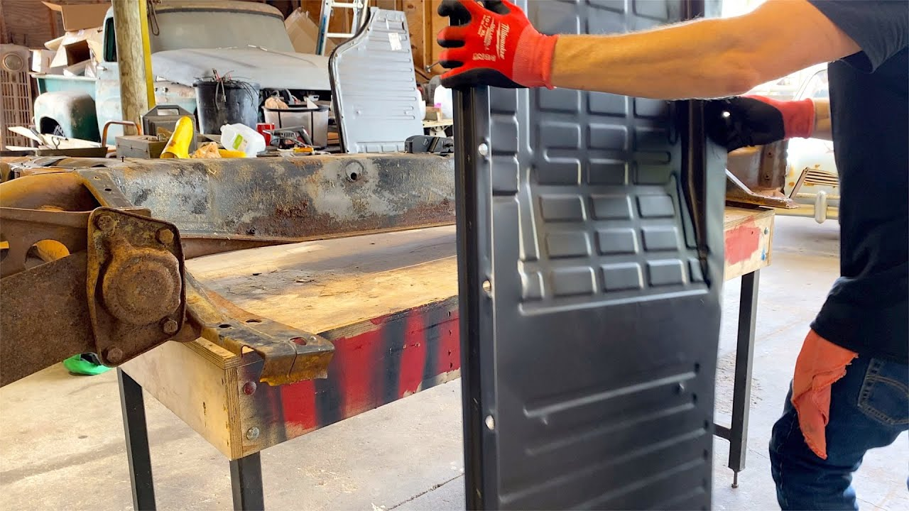 VW Karmann Ghia Restoration - NEW floor pans fitted! Day 6