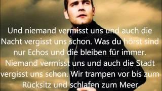 Bosse - Niemand vermisst uns + lyrics