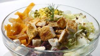 Tavuklu Yeşil Salata Tarifi | Tavuklu Salata Nasıl Yapılır